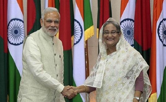 Sheikh Hasina and Narendra Modi